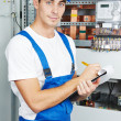 Electriciworker inspector — Stock Photo #36833827