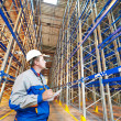 Stock Photo: Warehouse worker in storehouse