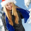 Happy young woman at winter — Stock Photo