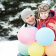 Mother with child boy son at winter — Stock Photo #36876759