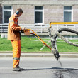 Asphalt patching roadworks — Stock Photo #37051307