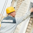 Builder facade plasterer worker — Stock Photo #37051393