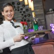 Waitress girl of commercial restaurant — Stock Photo #37553147