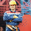 Builder worker at construction site — Stock Photo #37553353
