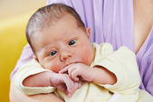 Squint of newborn baby — Stock Photo