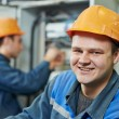 Stock Photo: Happy electriciengineer worker
