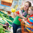 Stock Photo: Family shopping at supermarket