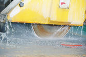 Close-up granite cutting machine — Stock Photo