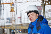 Worker at construction site — Stock Photo