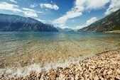 Mountain Garda lake — Stock Photo