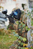 Paintball game player — Stock Photo