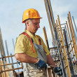 Construction worker making reinforcement — Stock Photo #42683631