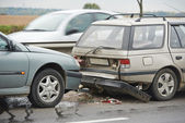 Car crash collision — Stock Photo