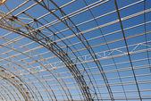 Metal construction framework background — Stock Photo