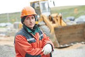 Construction builder worker portrait — Stock Photo