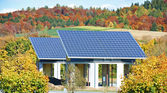 Alternative energy - solar panels — Stock Photo