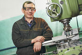 Milling machine operator — Stock Photo