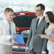 Car selling or automobile rental — Stock Photo