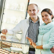 Jewellery shopping in boutique — Stock Photo