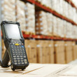 Barcode scanner at warehouse — Stock Photo #44106129