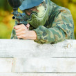 Two paintball players — Stock Photo