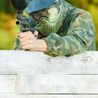 Two paintball players — Stock Photo #44106951
