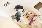 Ventilation engineer worker — Stock Photo