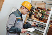 Electrician worker — Stock Photo