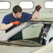 Windshield windscreen replacement works — Stock Photo #44958475