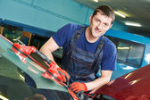 Windscreen repairman — Stock Photo