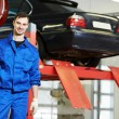 Repairman auto mechanic at work — Stock Photo #44985337