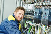 Happy electrician engineer worker — Стоковое фото