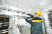 Female insulation worker — Stock Photo
