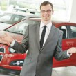 Automobile car dealer salespersom manager — Stock Photo