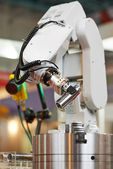 Robotics. manipulator arm with detail — Stock Photo