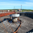 Stock Photo: Empty huge round form sedimentation settler tank in treatment plant