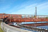 Rotated mechanism of sedimentation sewage tank — Stock Photo