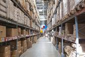 Warehouse storage of retail merchandise shop. — Stock Photo
