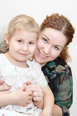Portrait of happy mother with daughter — Stock Photo