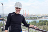Young handsome man constructor — Stock Photo