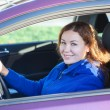 Royalty-Free Stock Photo: Smiling young woman the driver