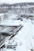 坦克与硫酸污水厂 — 图库照片