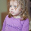 Picture of scared small girl with blue eyes and blond hair — Stock Photo #21257517