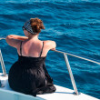 Royalty-Free Stock Photo: Woman on a yacht