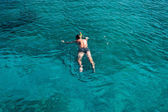 Diver in the sea — Stock Photo