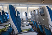 Interior of transcontinental aircraft with comfortable seats — Stock Photo