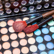 Professional multi-colored Eyeshadow make-up brushes — Stock Photo
