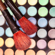 Professional eye shadow make-up brushes — Stock Photo