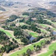 Stock Photo: Green field for golf playing aerial view