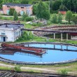 Stock Photo: Wastewater filtering in water treatment plant